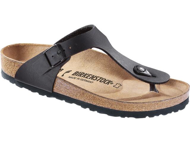 Birkenstock Gizeh Soft Footbed Flips Regular, black